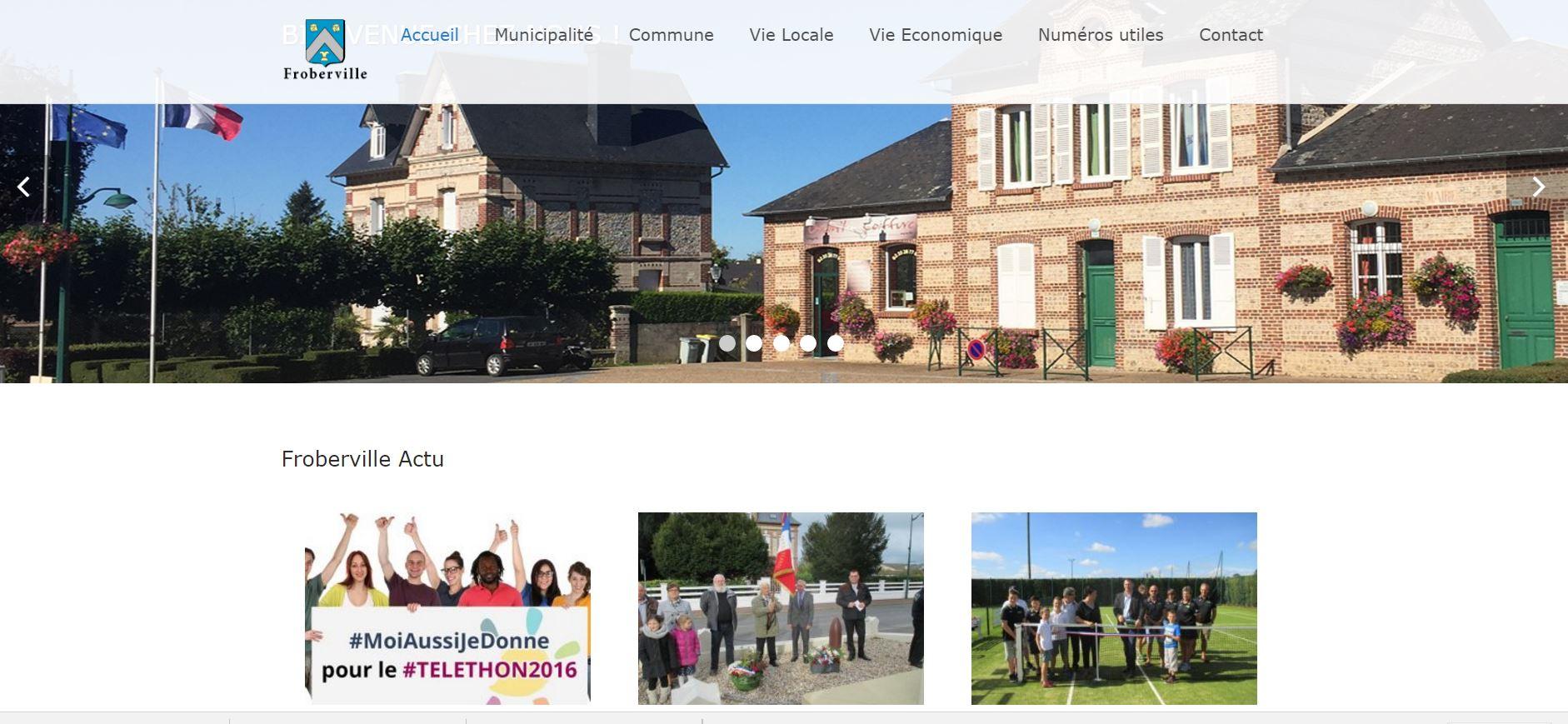 Nouveau site pour Froberville